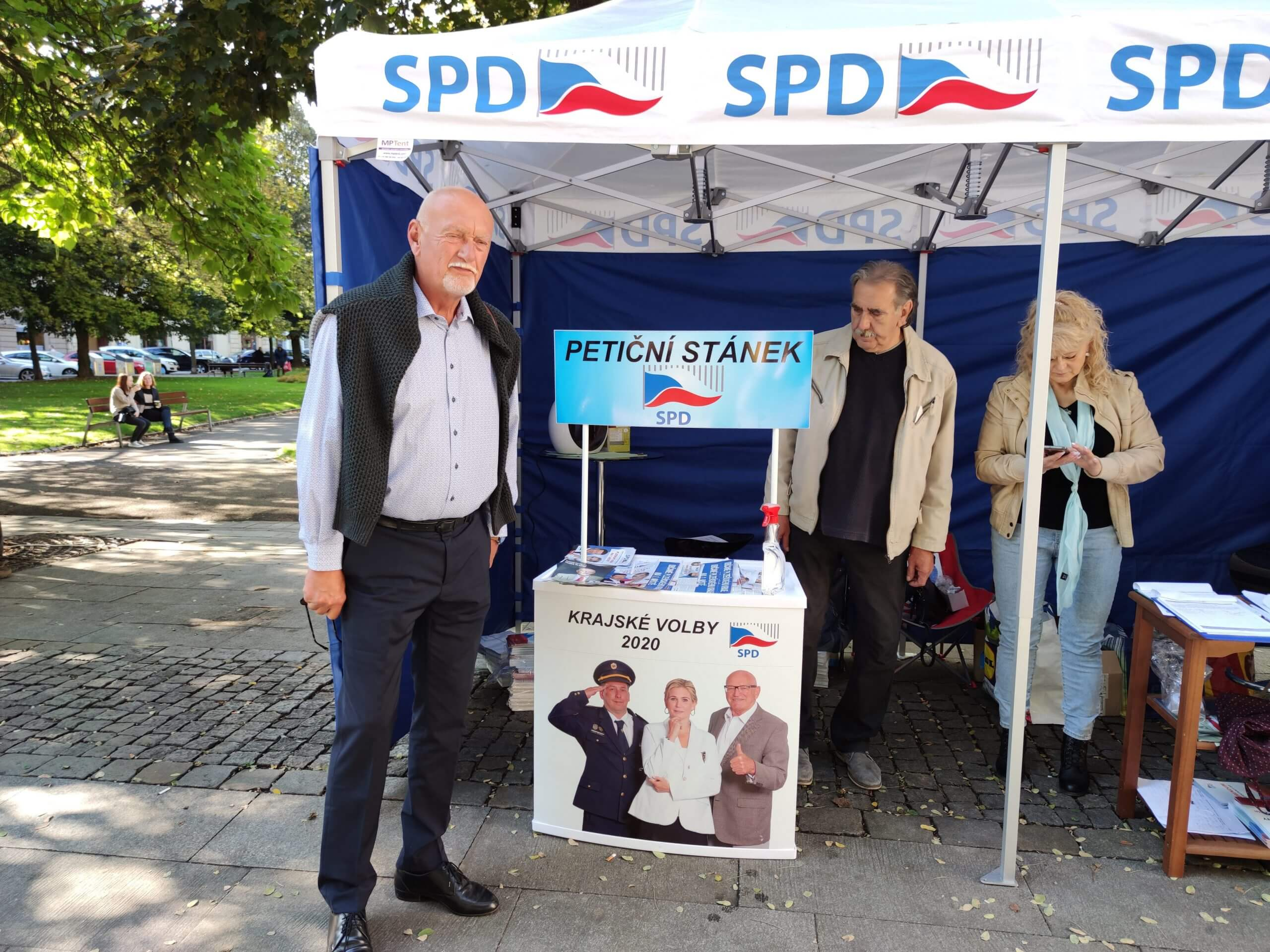 SPD stánek Plzeň